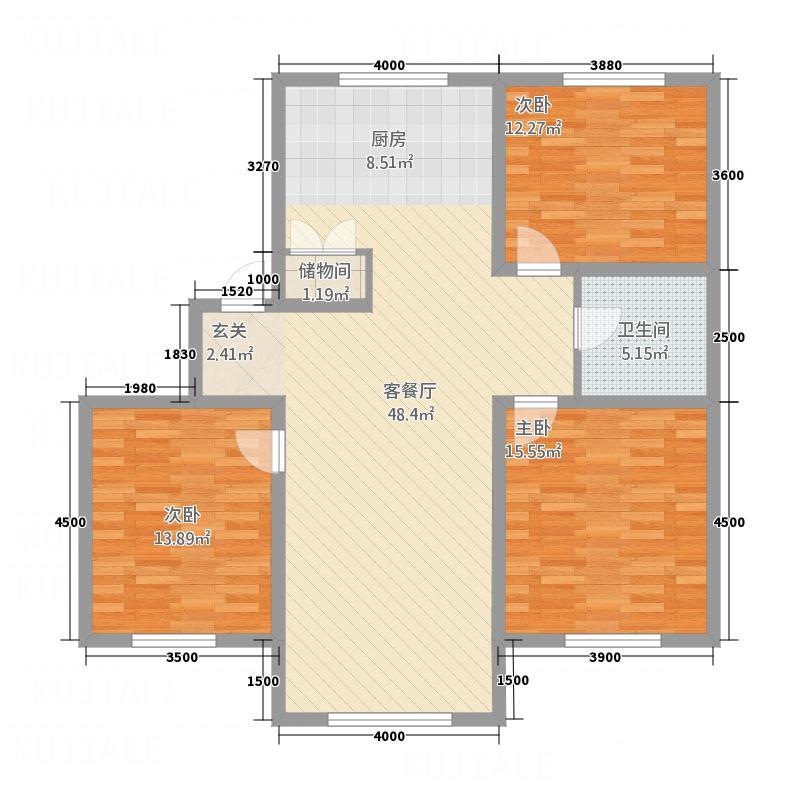 弘基书香园二期弘基书香园二期3室户型3室
