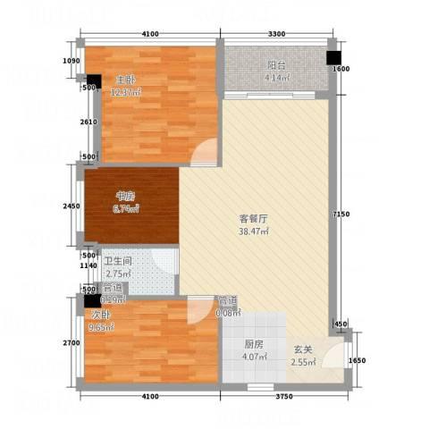 碧桂园・空港国际2室1厅1卫0厨95.00㎡户型图