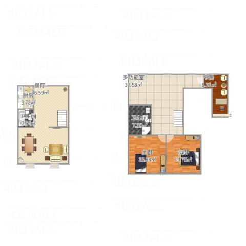苹果新天地3室1厅2卫1厨163.00㎡户型图