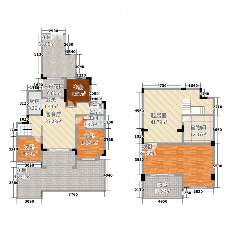 万晟・阳光城12125.58㎡12号楼103下跃复式户型3室2厅2卫1厨