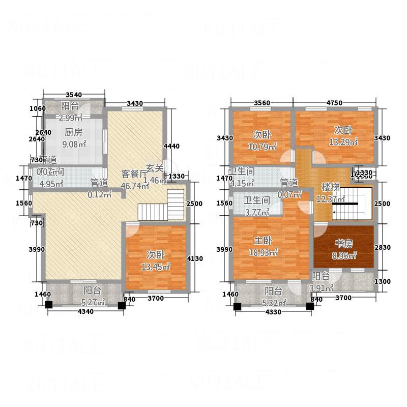 白马庄园235.50㎡Dp3户型5室2厅3卫1厨