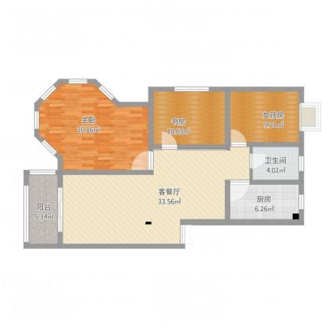 罗马假日2室1厅1卫1厨127.00㎡户型图