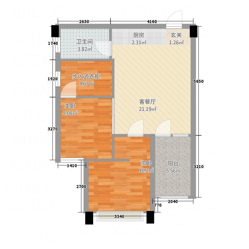 一品名门云墅74.80㎡康年国际公寓户型
