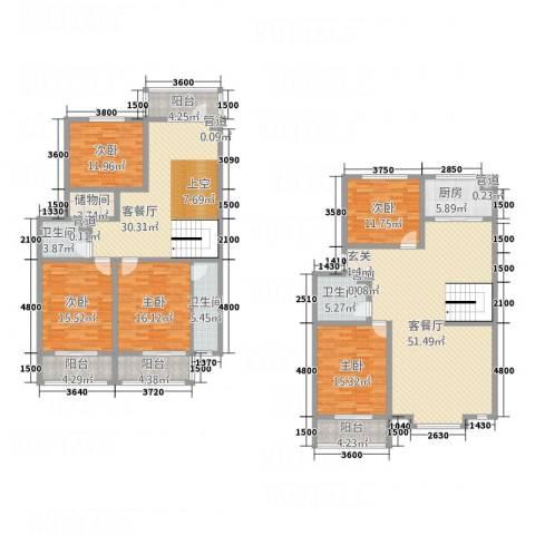 利源幸福�5室2厅3卫1厨276.00㎡户型图