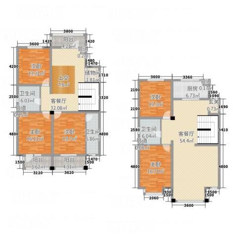 利源幸福�5室2厅3卫1厨284.00㎡户型图