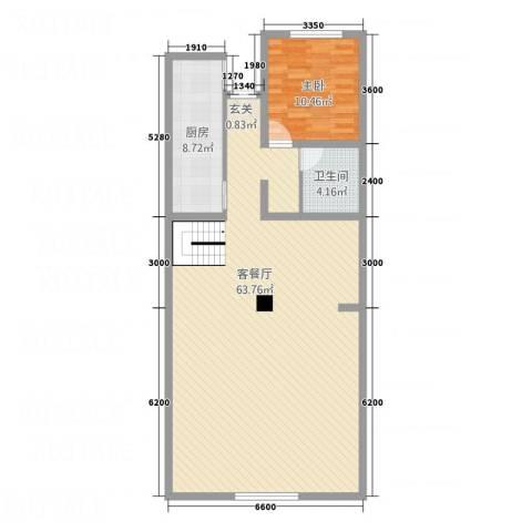东方之珠凤栖苑1室1厅1卫1厨120.00㎡户型图