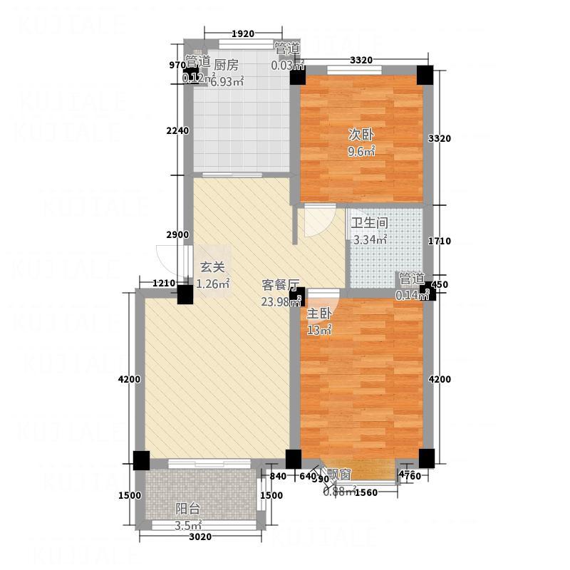 金辰凯旋广场80.00㎡金辰凯旋广场80两室两厅一卫户型2室2厅1卫1厨80.00㎡户型2室2厅1卫1厨