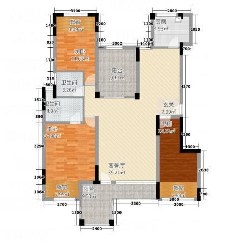 淮北凤凰城3室1厅2卫1厨112.78㎡户型图