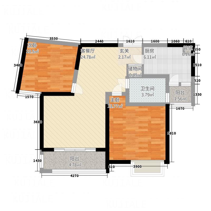 远航水晶城97.00㎡远航水晶城R2户型2室2厅1卫1厨97.00㎡户型2室2厅1卫1厨