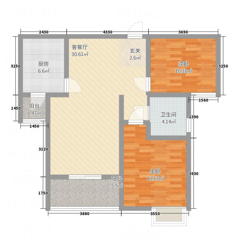 舜天国际花园104.86㎡舜天国际花园B2户型2室2厅1卫1厨104.86㎡户型2室2厅1卫1厨