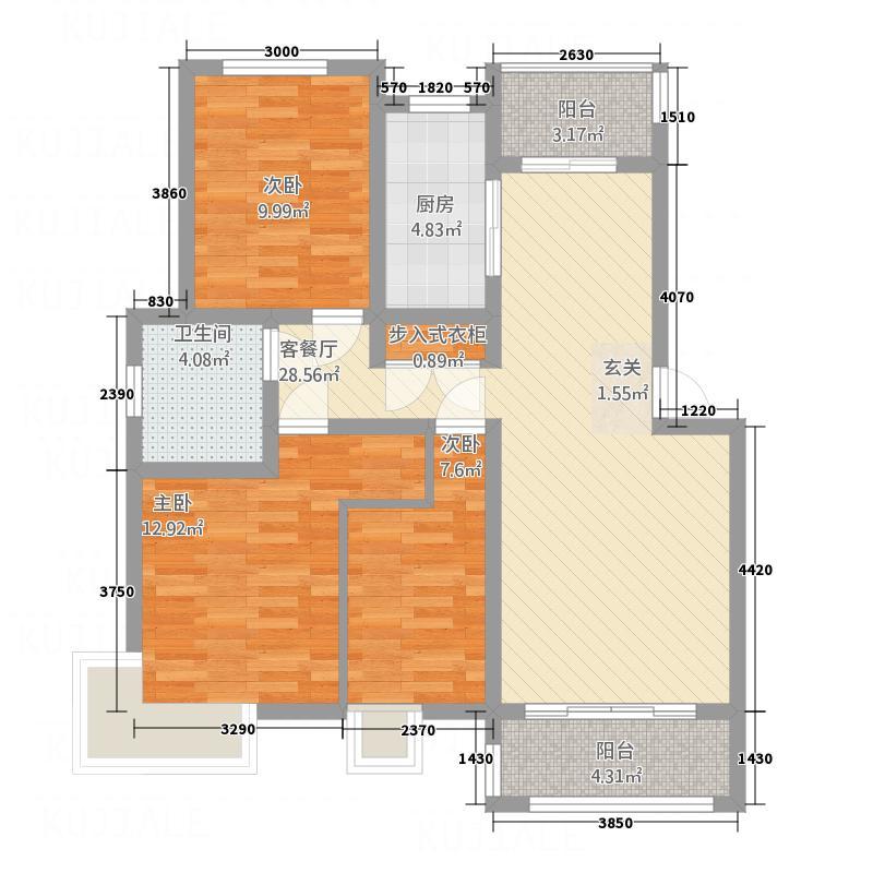 鲲鹏・岭秀城112.00㎡鲲鹏・岭秀城图片33室2厅1卫1厨112.00㎡户型3室2厅1卫1厨