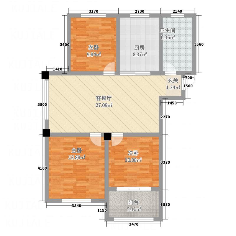 天和豪庭二期C4栋标准层A户型
