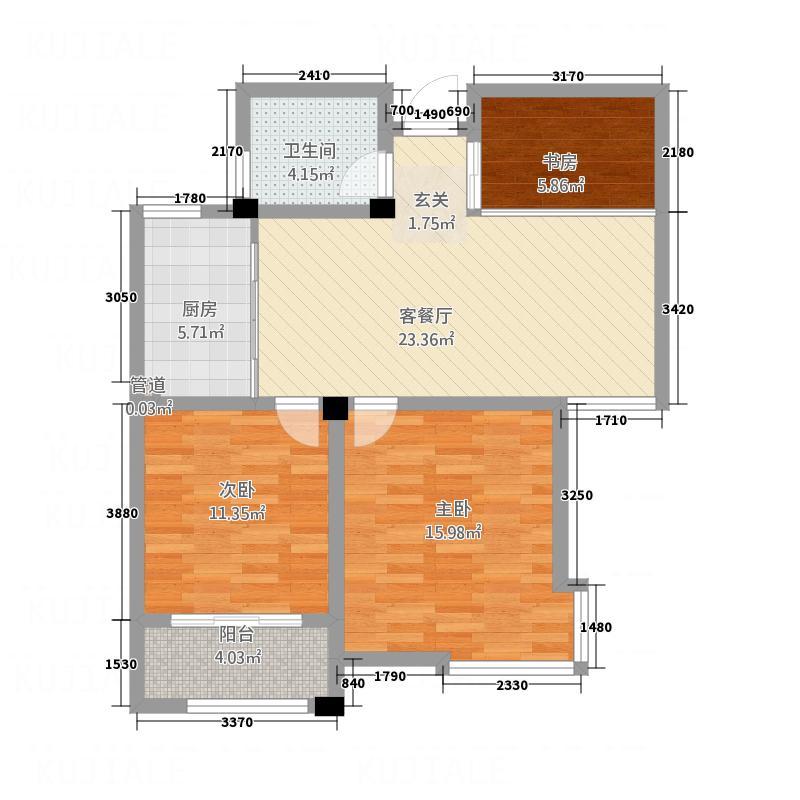 天和豪庭二期C4栋标准层B户型