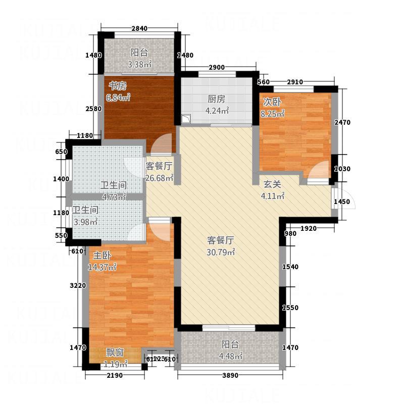 玖号院118.26㎡户型