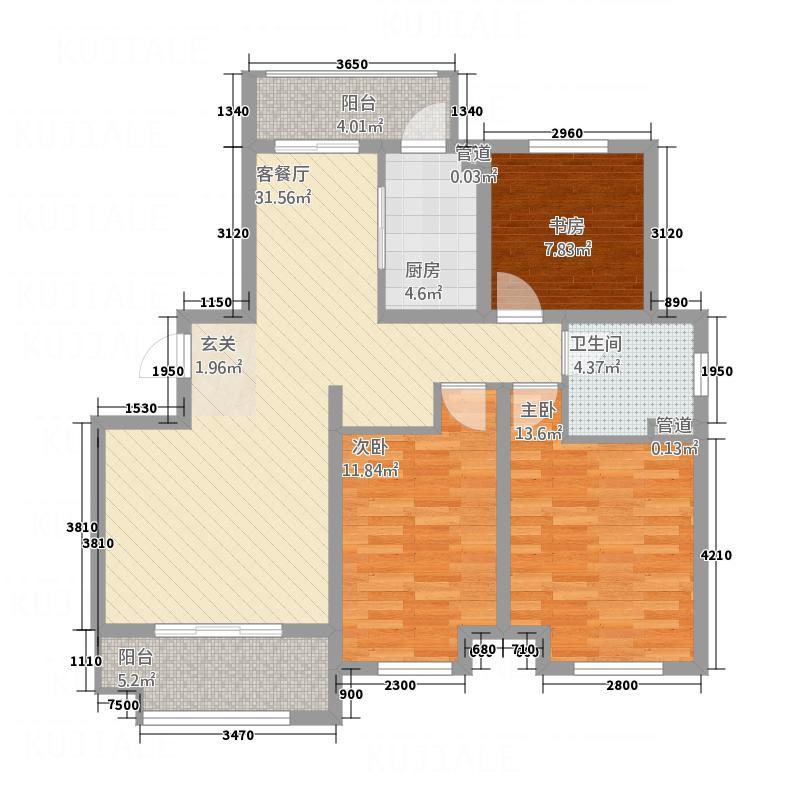 天房美郡国际城511.55㎡YF户型3室2厅