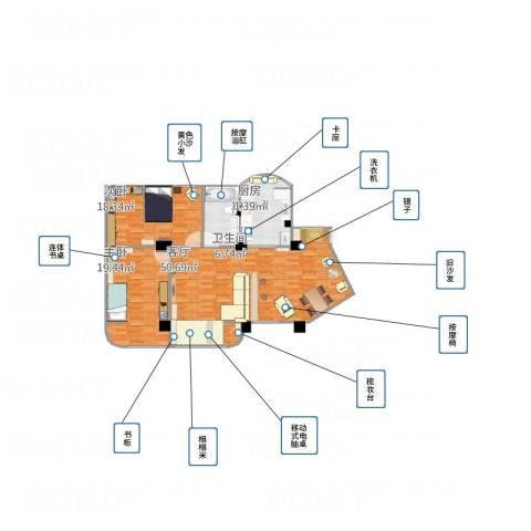 金浦花园22室1厅1卫1厨140.00㎡户型图