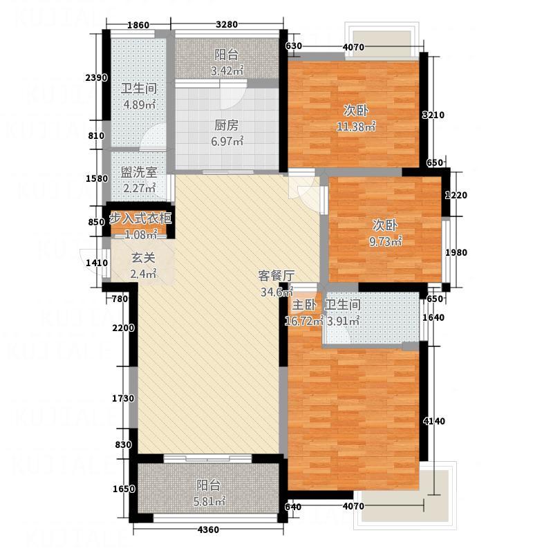 远航水晶城145.00㎡远航水晶城S1户型3室2厅2卫1厨145.00㎡户型3室2厅2卫1厨