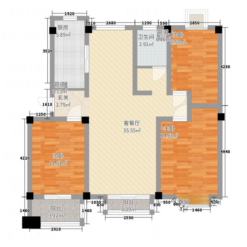 金辰凯旋广场120.00㎡金辰凯旋广场120三室两厅一卫户型3室2厅1卫1厨120.00㎡户型3室2厅1卫1厨