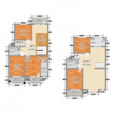 利源帝景5室2厅3卫1厨227.00㎡户型图