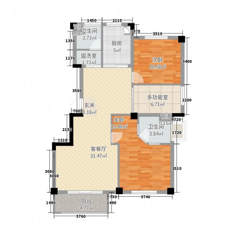 银桂苑1322118.25㎡a户型3室2厅2卫1厨