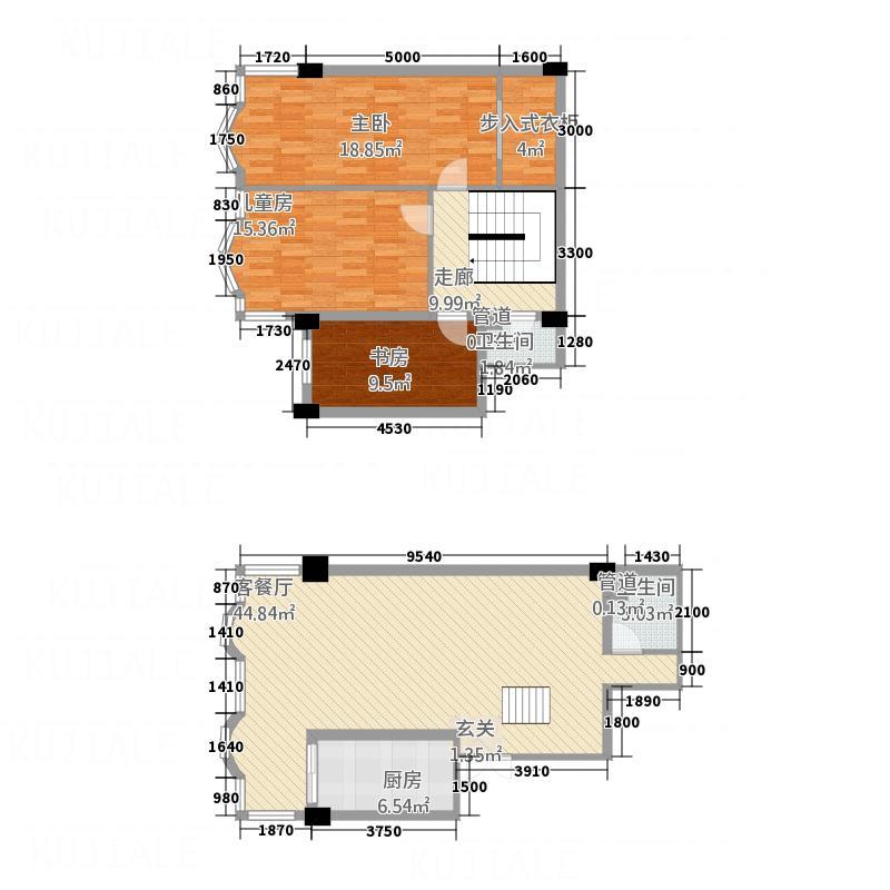 西华苑133.88㎡F5户型3室2厅2卫1厨