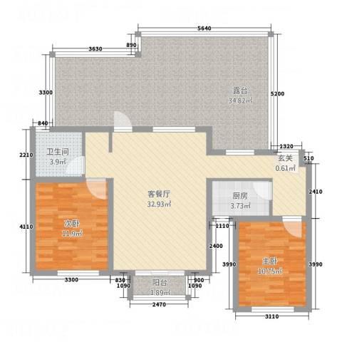 首创・象墅2室1厅1卫1厨141.00㎡户型图