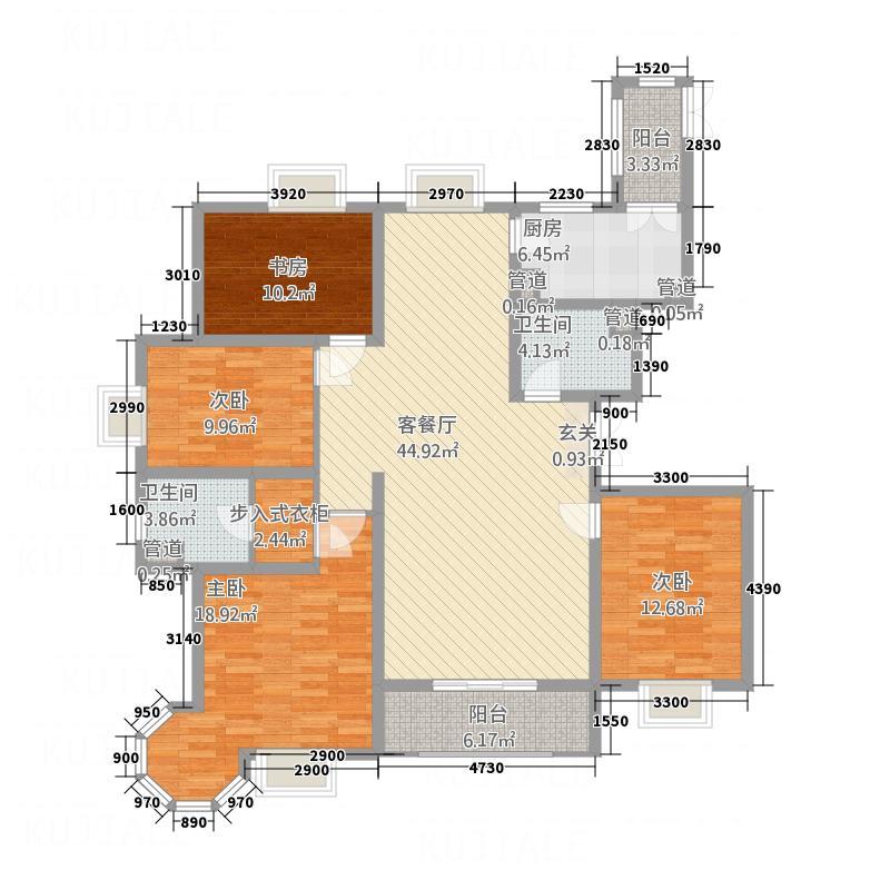 唐宁大道6516.20㎡6#楼5-16层O2户型4室2厅2卫1厨