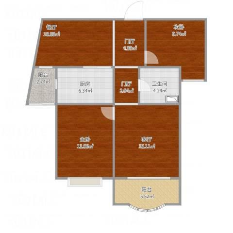 圣约翰名邸2室2厅1卫1厨102.00㎡户型图