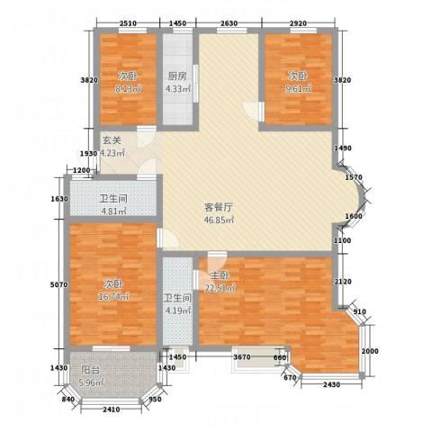阳光海岸荷兰新城4室1厅2卫1厨176.00㎡户型图