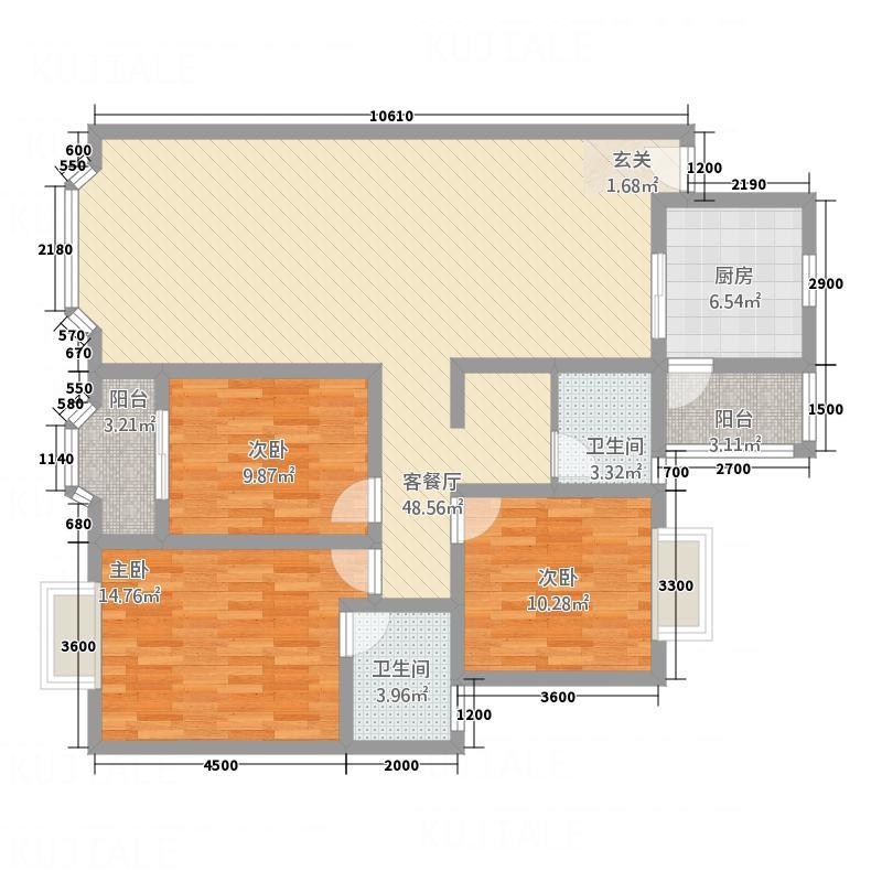 九州家园户型3室