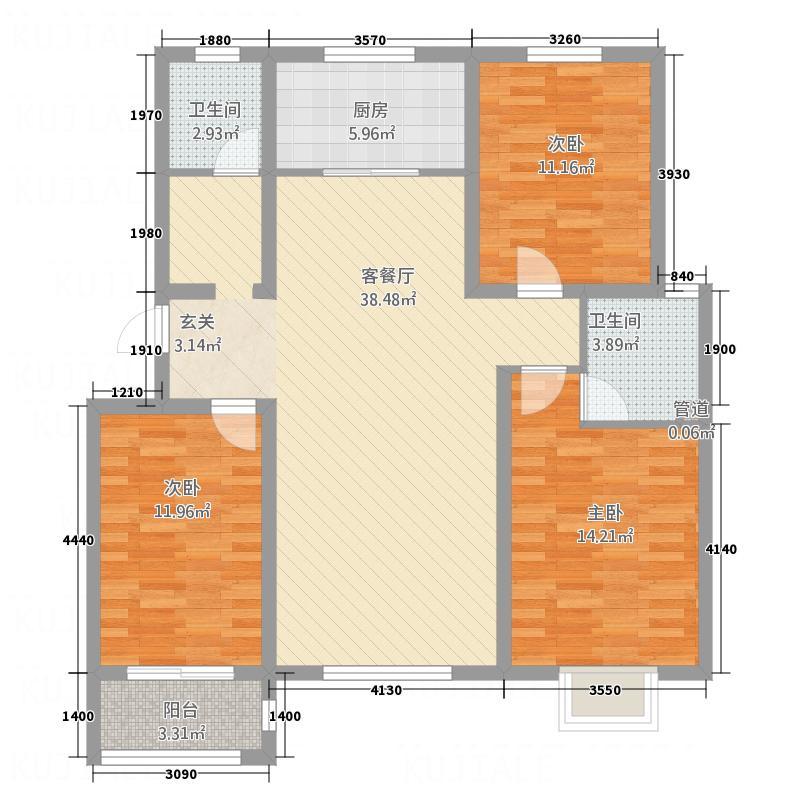 东明大洋福邸6#融苑户型
