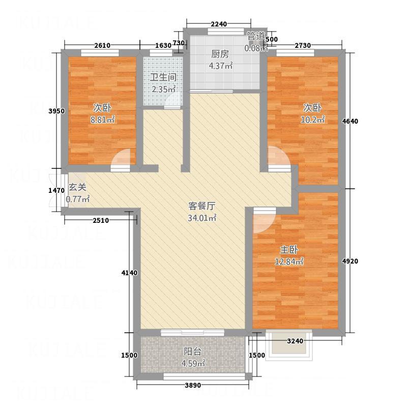 左岸国际32112.20㎡G户型3室2厅1卫1厨