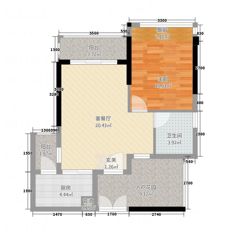 东方・比华利山庄867.56㎡8栋单张户型2室2厅1卫1厨