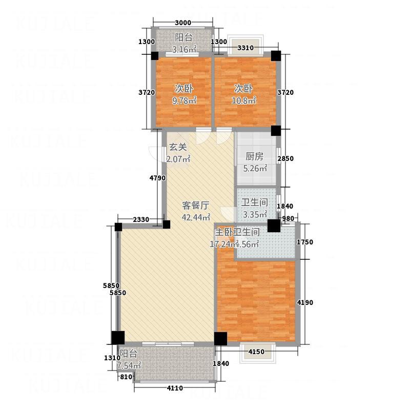 恒润华侨新城11138.20㎡11楼户型3室2厅2卫1厨