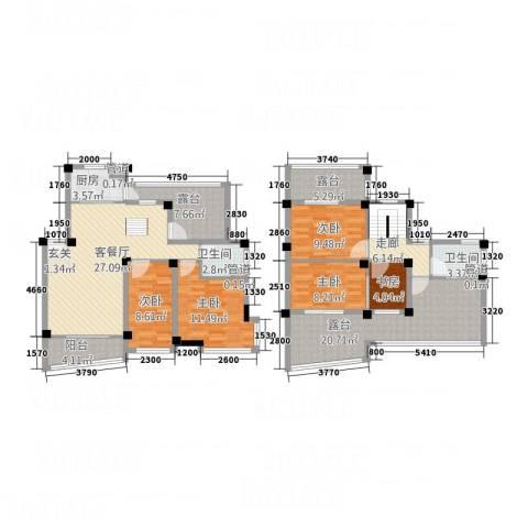 水印三江5室1厅2卫1厨179.00㎡户型图