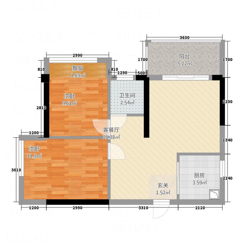 百万庄_调整大小户型2室2厅1卫1厨