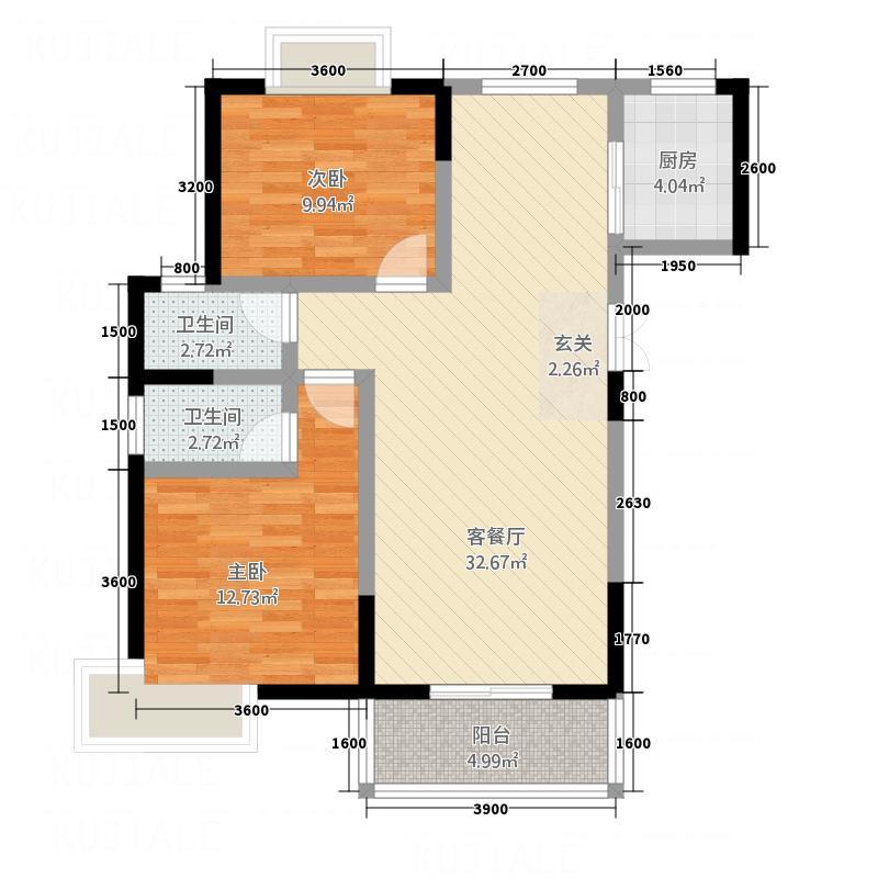 龙泽花园2室2厅2卫