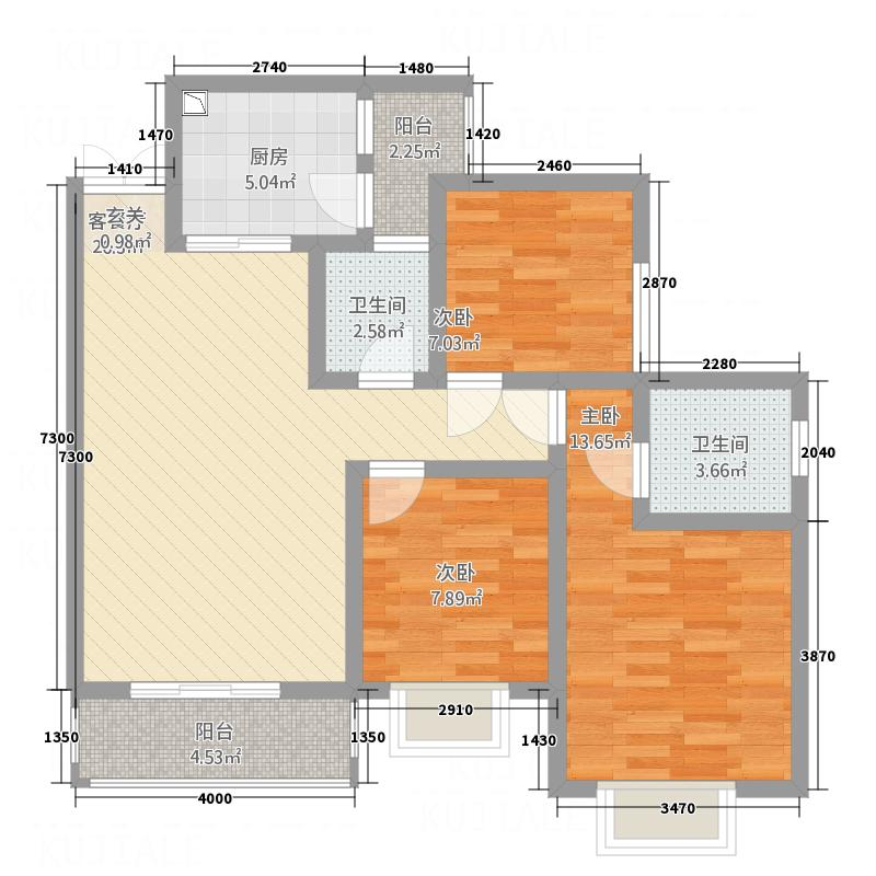 尹珍公寓15.70㎡遵义户型