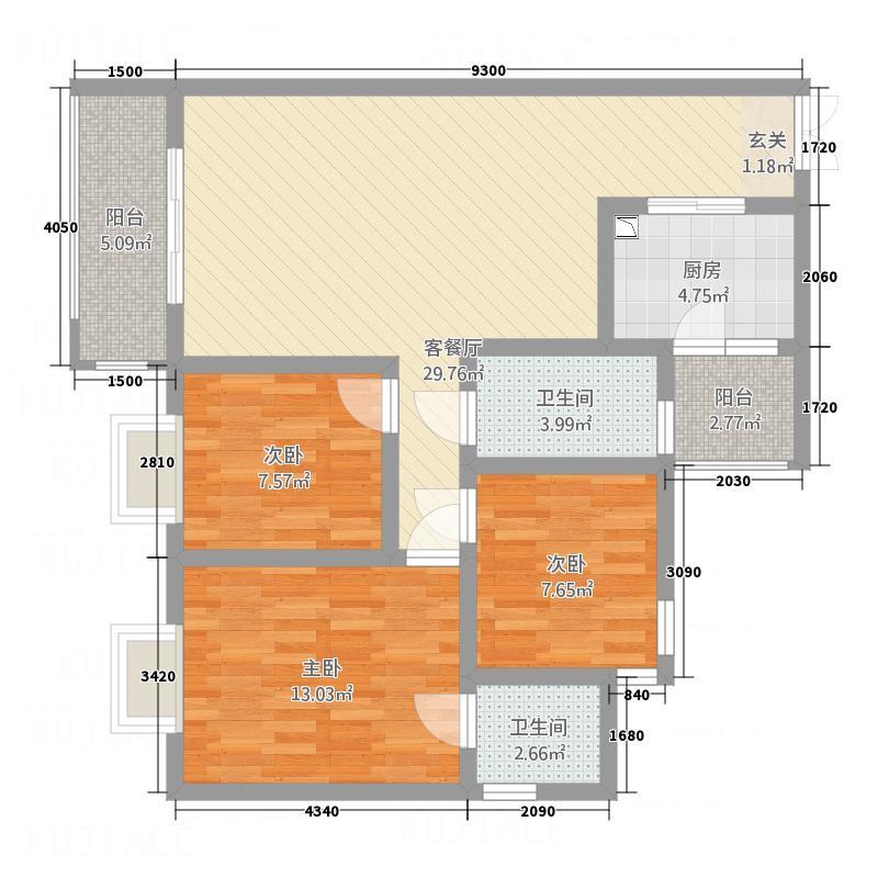 尹珍公寓112.73㎡遵义户型