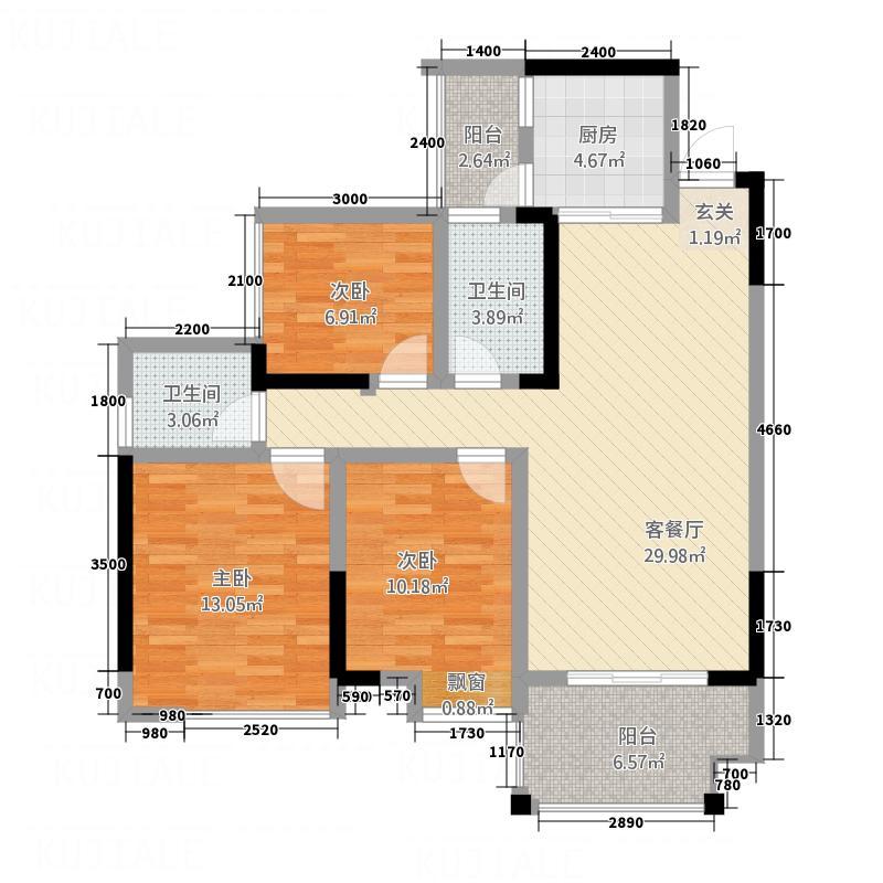 瑞城・龙湾574.32㎡0507-F单页16x户型2室2厅2卫1厨