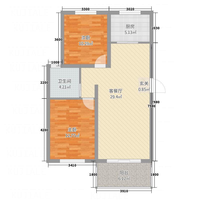 西城锦湖282.52㎡户型2室2厅1卫1厨