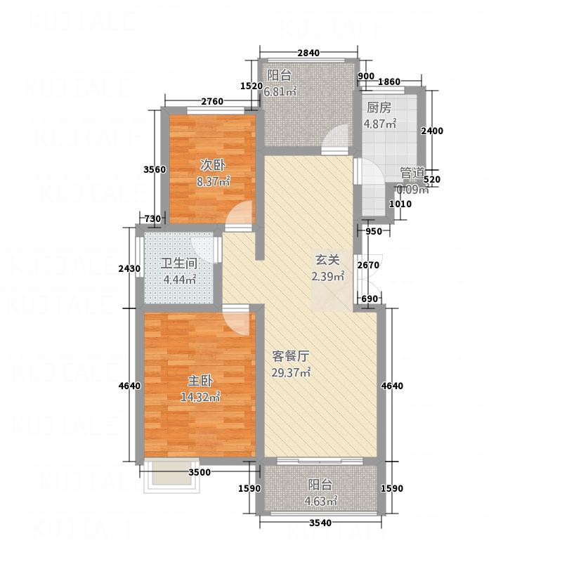 月湾湖东岸・丰泽园15.37㎡月湾湖户型3室2厅1卫1厨