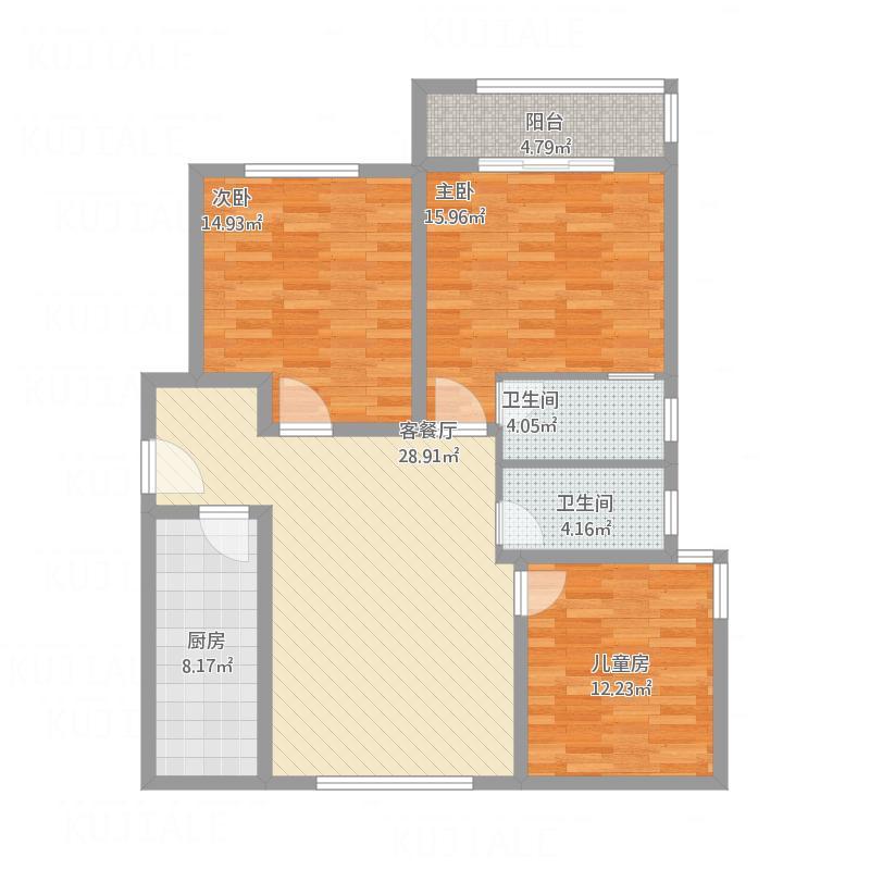 110三室两厅一厨两卫