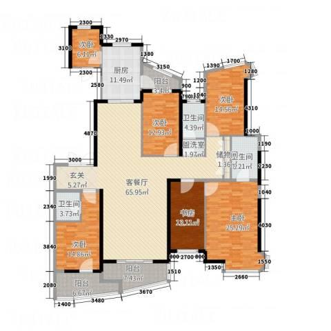 盈馨佳苑6室2厅3卫1厨1628.00㎡户型图