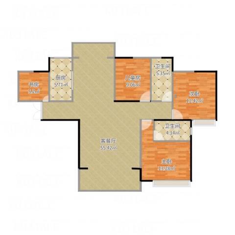 康城上品4室1厅2卫1厨148.00㎡户型图