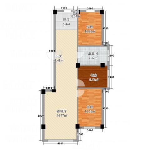 清风竹阁3室1厅1卫0厨115.00㎡户型图