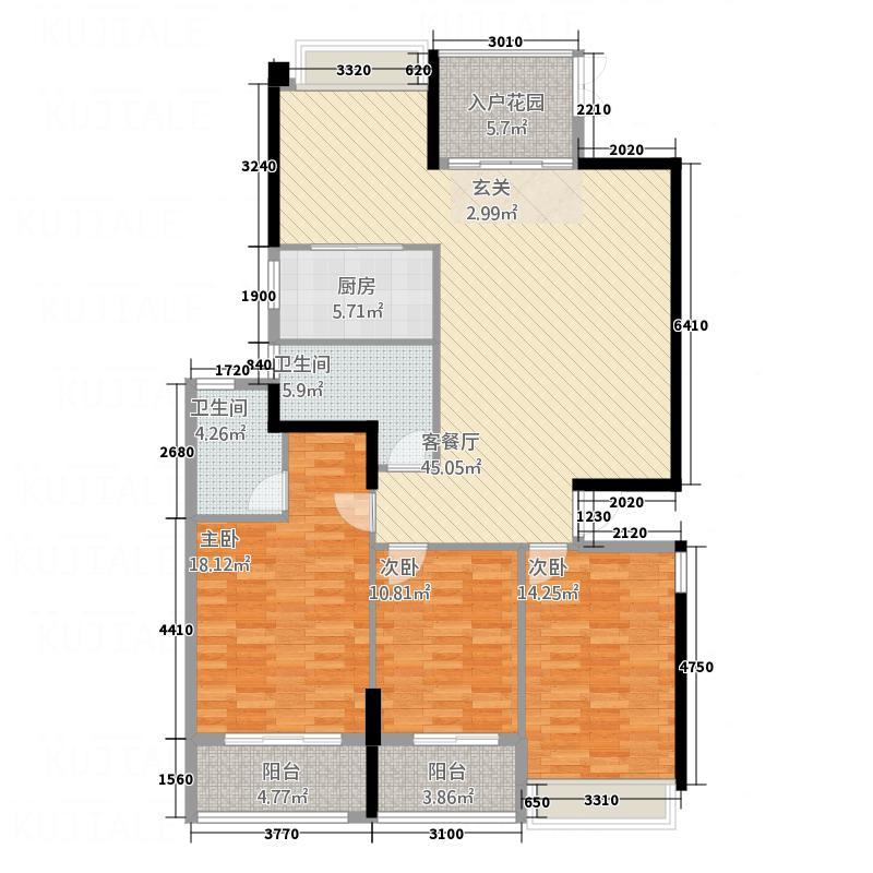 宝信城市广场1515.20㎡户型4室2厅2卫1厨
