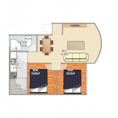 凌熹苑B12室1厅1卫1厨130.00㎡户型图