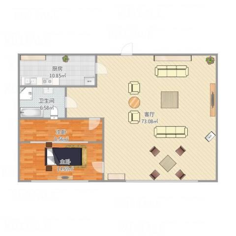 振富大厦2室1厅1卫1厨149.00㎡户型图