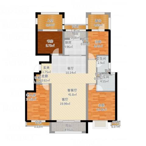 富立秦皇半岛4室1厅2卫1厨170.00㎡户型图
